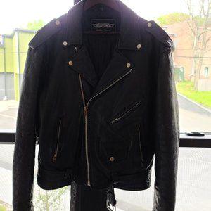 Vintage leather rider jacket